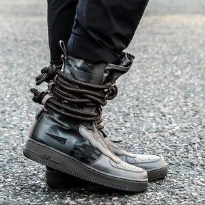 "NWT Nike SF AF1 HI ""Ridgerock"" Camo Sneaker Boots"